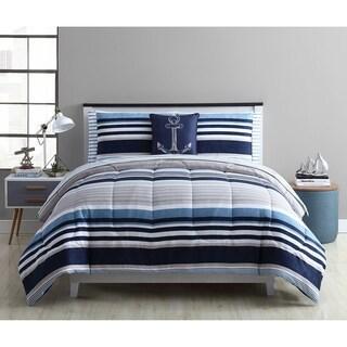 Porch & Den Hackle Stripe Bed-in-a-Bag Comforter Set