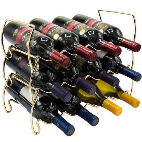 Metal Detachable Wine Rack - 3 Tier, Gold