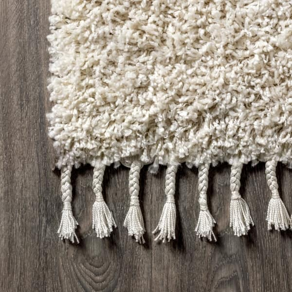 The Gray Barn Cattail Hollow Shag Plush Tel Cream