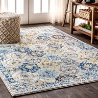 The Curated Nomad Townsend Persian Boho Vintage Trellis Area Rug - 7'9 x 10'