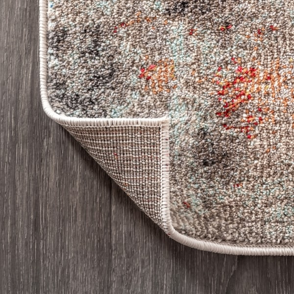 Short-Pile Rug Modern Colourful Used Effect Oriental Abstract Moroccan Pattern