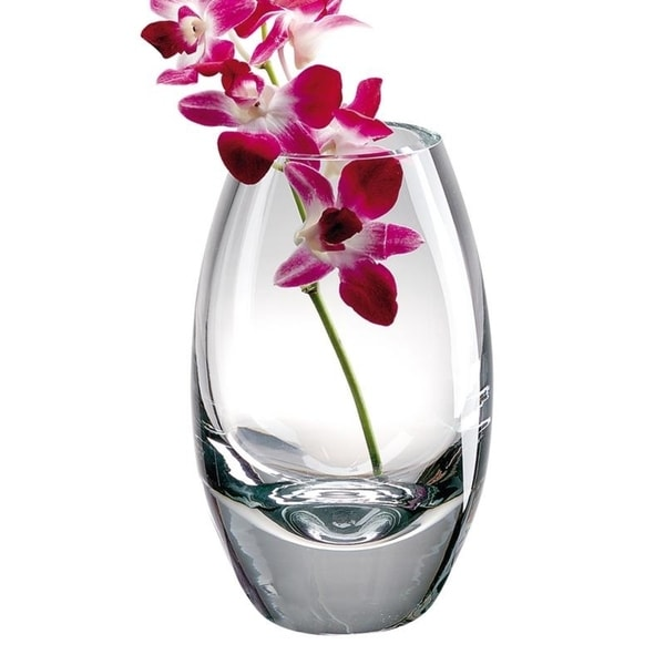 Radiant European Mouth Blown Crystal 7 in. Vase