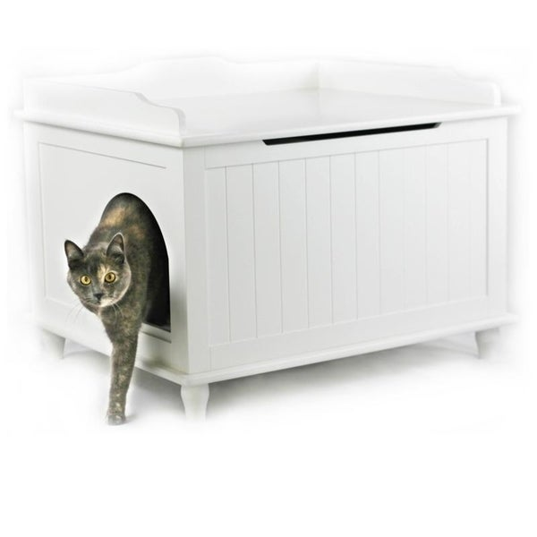 Jumbo Designer Catbox Litter Box Enclosure in White