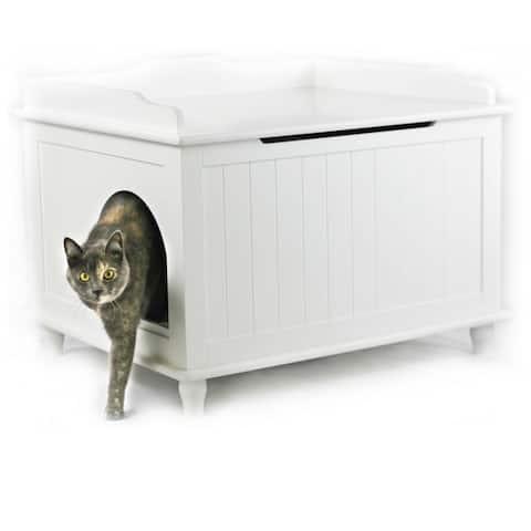 Jumbo Designer Catbox Litter Box Enclosure in White