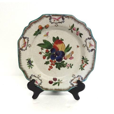 Fruit Design Decorative Plate w/ Stand
