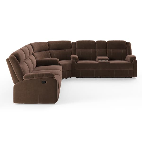 Surprising Shop Tompkins Chocolate Fabric Sectional Sofa On Sale Pabps2019 Chair Design Images Pabps2019Com