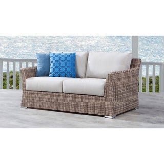 Savannah Love Seat with Grey-Colored Cushions