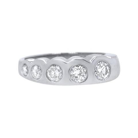 Platinum 1ct Diamond Fist Bump Band Ring (J-K,SI1-SI2)