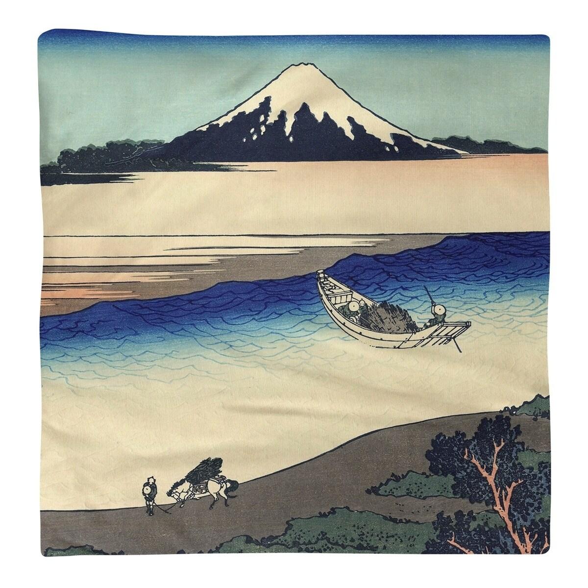 Katsushika Hokusai Tama River In Musashi Province Napkin Overstock 27417681