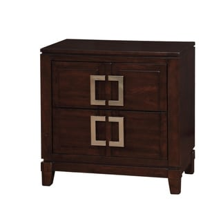 Williams Home Furnishing Balfour Night Stand in Brown Cherry Finish