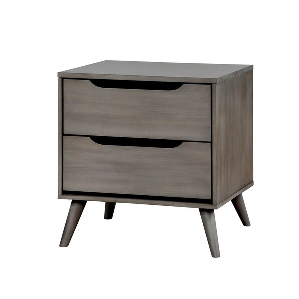 Williams Home Furnishing Lennart Modern Night Stand in Gray Finish