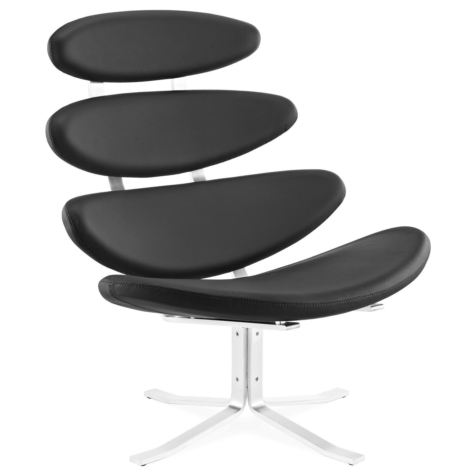 Mid century modern style replica corona chair black