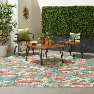 Havenside Home Wanderly Flamingo Indoor/Outdoor Area Rug
