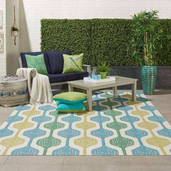 Nourison Waverly Sun N' Shade Geometric Indoor/Outdoor Area Rug