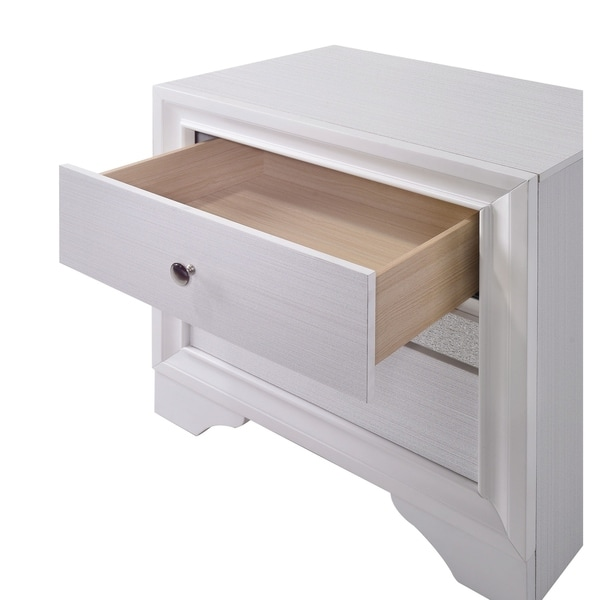 Williams Home Furnishing Chrissy Night Stand in White Finish