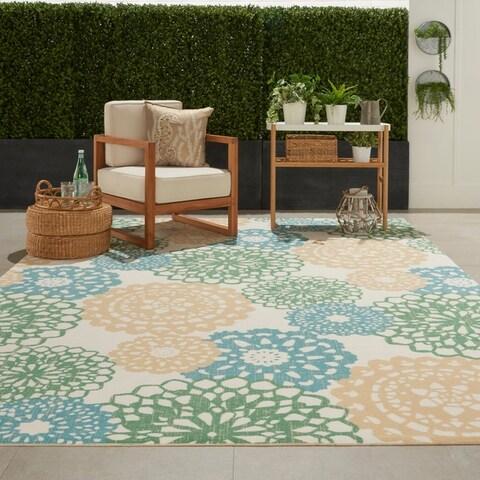 Waverly Sun N' Shade Retro Floral Indoor/Outdoor Area Rug