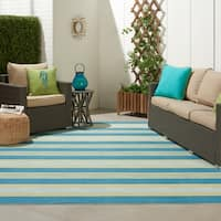 Nourison Waverly Sun N' Shade Striped Indoor/Outdoor Area Rug