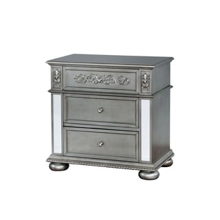 Williams Home Furnishing Azha Traditional Night Stand in Silver Finish
