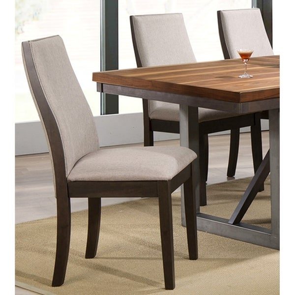 Shop Mid Century Modern Wood And Fabric Design Dining Chairs Set Of