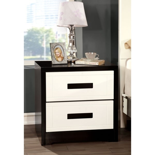 Williams Home Furnishing Rutger Contemporary Night Stand in Black