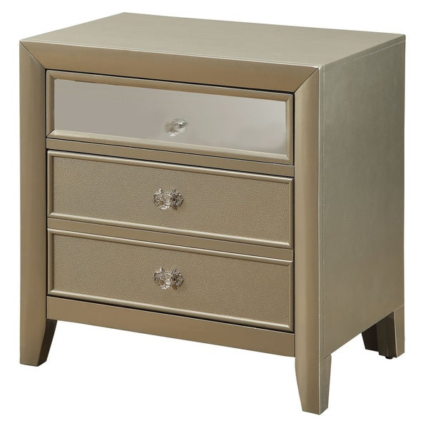 Silver Orchid Barton Silver Glam Night Stand