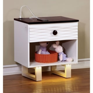 Williams Home Furnishing Meredith Transitional Night Stand in White