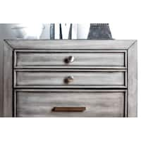 Williams Home Furnishing Daphne  Night Stand in Gray Finish