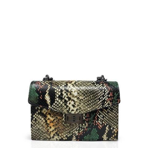 Uchuva Rigid Designer clutch bag for women made in leather