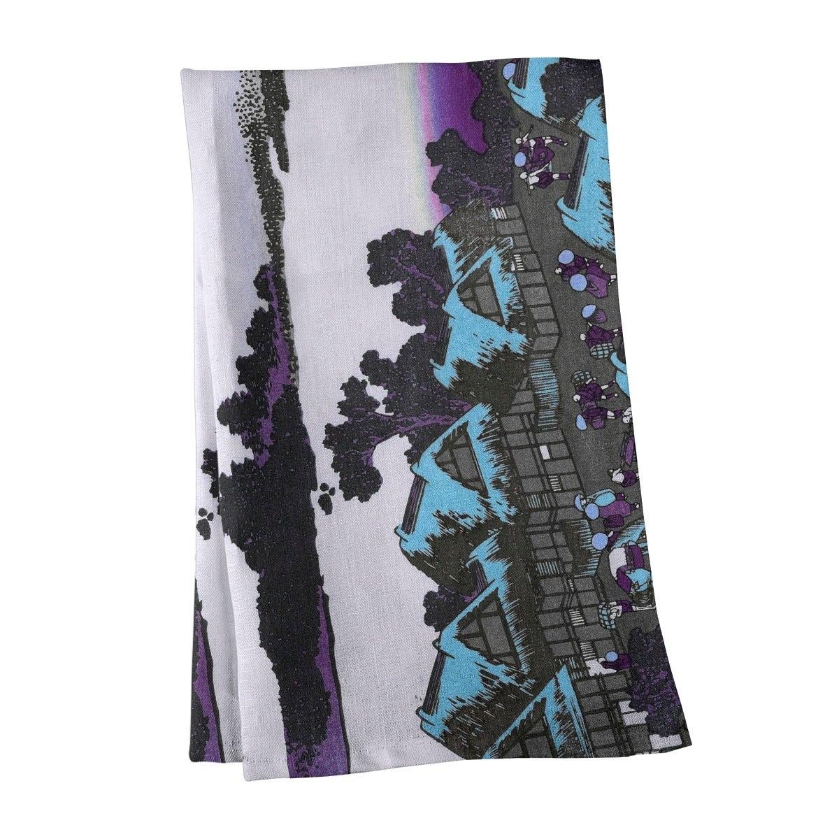 Katsushika Hokusai Dawn At Isawa In Kai Province In Blue Tea Towel 18 X 30 Overstock 27424757