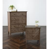 Bowen Reclaimed Pine 5 Drawer Dresser by Kosas Home