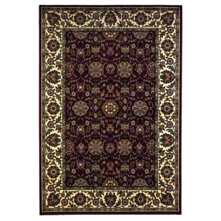 Domani Lexington Traditional Red/Ivory Classic Floral Area Rug