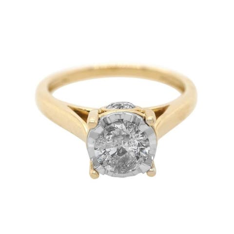 14K Yellow Gold Diamond Engagement Ring (I-J,I2-I3)