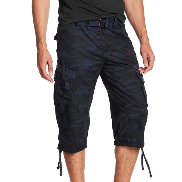 XRAY Mens Belted Classic Cotton Cargo Shorts 18 Inch Inseam by  Savings