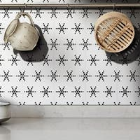 Paris in White and Black Handmade 8x8-inch Moroccan Tile  (Pack of 12)