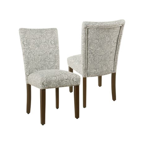 HomePop Parsons Dining Chair - Gray Floral (set of 2)