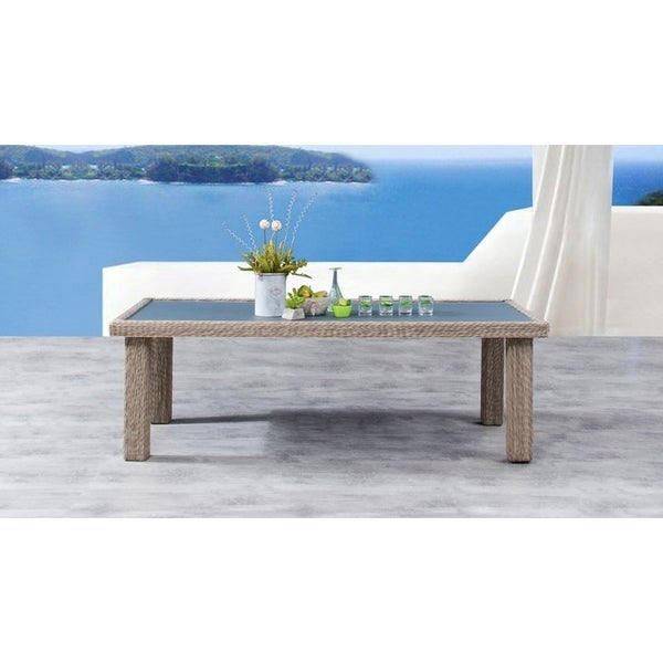Savannah Rectangular Aluminum Resin Wicker Dining Table On Free Shipping Today 27427470