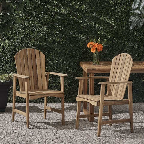 Malibu Outdoor Acacia Wood Adirondack Dining Chairs (Set of 2) by Christopher Knight Home