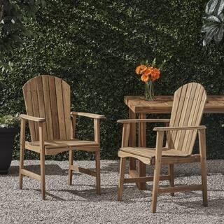 Christopher Knight Home Malibu Acacia-wood Adirondack Outdoor Dining Chairs (Set of 2)