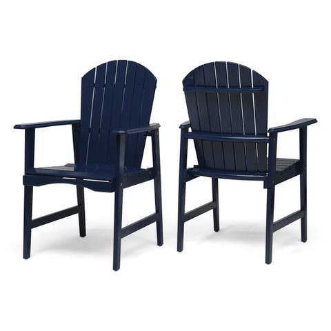 Christopher Knight Home Malibu Acacia-wood Adirondack Outdoor Dining Chairs (Set of 2)