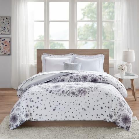 Intelligent Design Lia Grey Comforter and Sheet Set