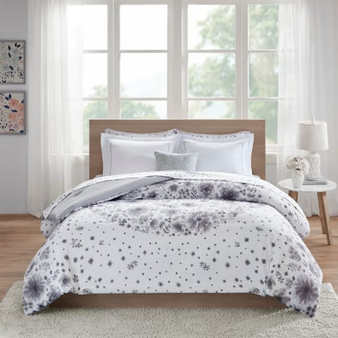 Intelligent Design Lia Grey Comforter and Sheet Set