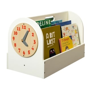 Tidy Books Handmade Portable Wooden Box with Play Clock - Ivory