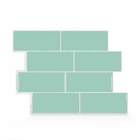 Metro Lucas 11.56 in. x 8.38 in. Peel and Stick Self-Adhesive Decorative Mosaic Wall Tile Backsplash (4-Pack)
