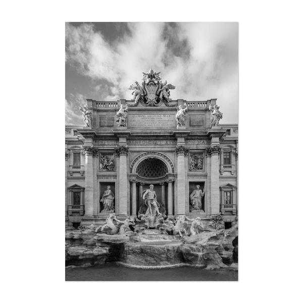 Noir Gallery Black & White Rome Italy Urban Unframed Art Print/Poster
