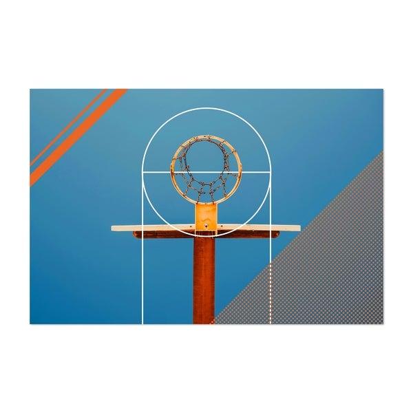 Noir Gallery Basketball Sports Geometric Hoop Unframed Art Print/Poster