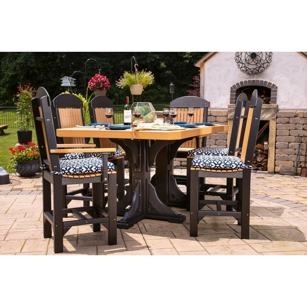 Outdoor Counter Height Dining Set - Table, 4 Regular Chairs, 2 Captain Chairs