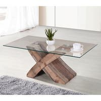 Elden Tempered Glass Top Coffee Table