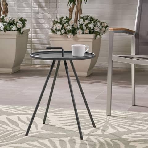 Christopher Knight Home Vida Modern Outdoor Steel-legs Side Table