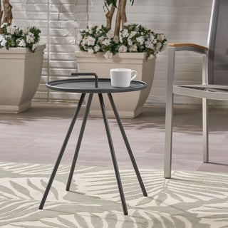 Christopher Knight Home Vida Modern Outdoor Steel-legs Side Table