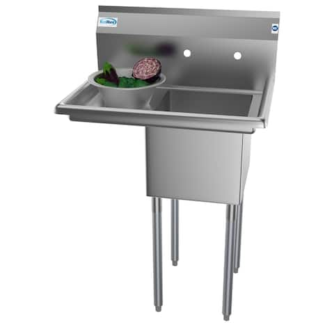 KoolMore 29-Inch Stainless Steel Commercial Kitchen Prep and Utility Sink